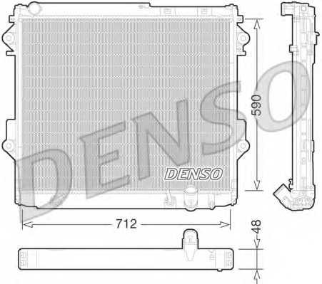 Радиатор охлаждения двигателя DENSO DRM50075 - изображение