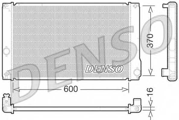 Радиатор охлаждения двигателя DENSO DRM50076 - изображение