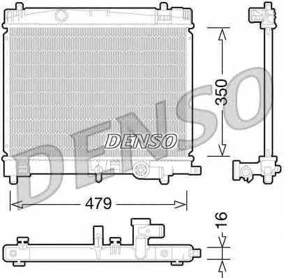 Радиатор охлаждения двигателя DENSO DRM50078 - изображение