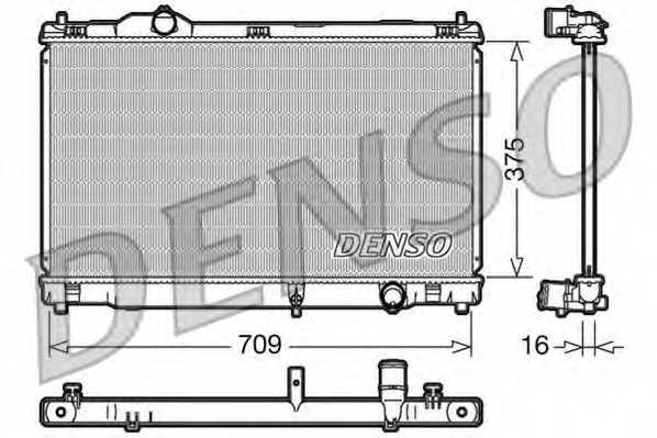 Радиатор охлаждения двигателя DENSO DRM51001 - изображение