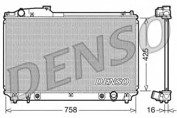 Радиатор охлаждения двигателя DENSO DRM51003 - изображение