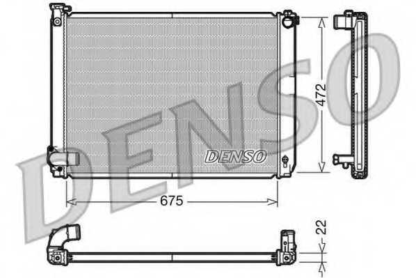 Радиатор охлаждения двигателя DENSO DRM51005 - изображение