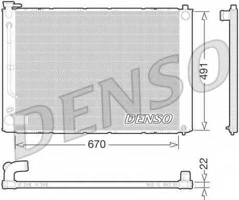 Радиатор охлаждения двигателя DENSO DRM51011 - изображение