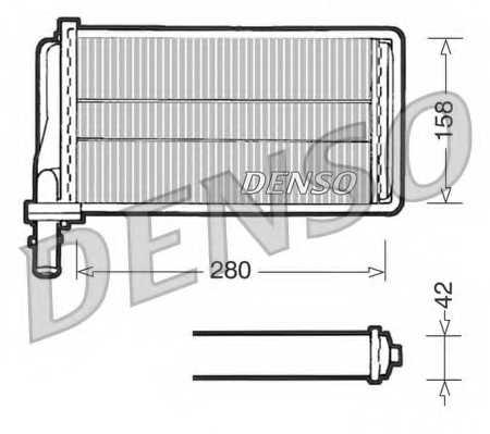 Радиатор отопления салона DENSO DRR01001 - изображение