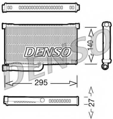Радиатор отопления салона DENSO DRR02004 - изображение