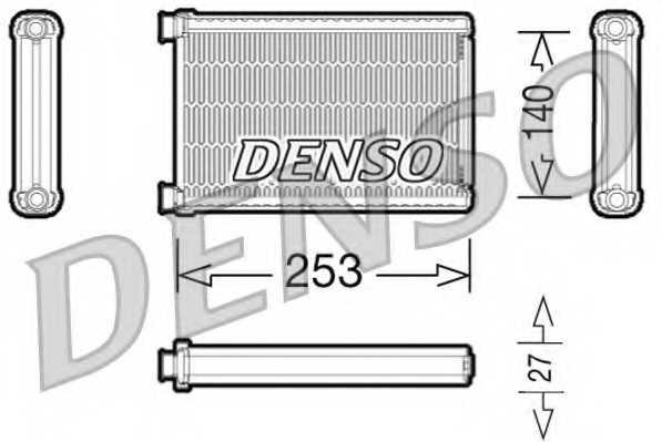 Радиатор отопления салона DENSO DRR05005 - изображение