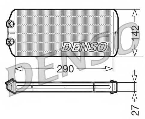 Радиатор отопления салона DENSO DRR07005 - изображение