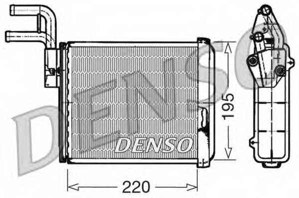 Радиатор отопления салона DENSO DRR09032 - изображение