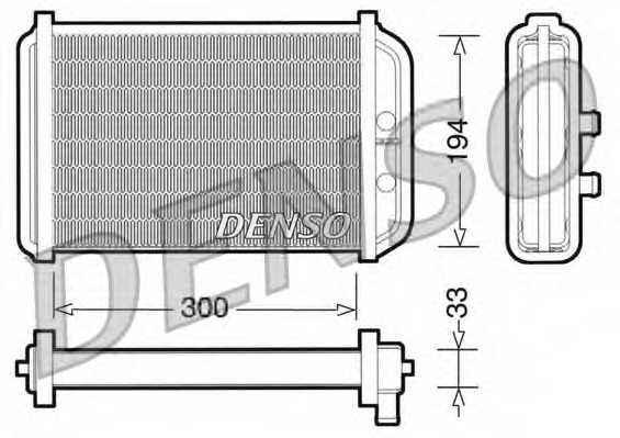 Радиатор отопления салона DENSO DRR09033 - изображение