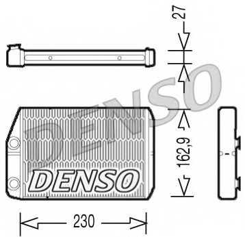 Радиатор отопления салона DENSO DRR09034 - изображение