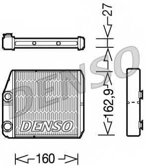 Радиатор отопления салона DENSO DRR09035 - изображение