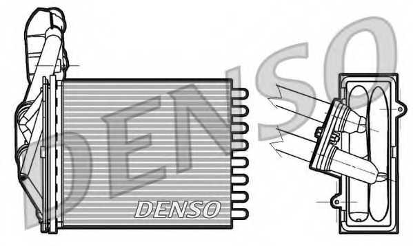 Радиатор отопления салона DENSO DRR09042 - изображение