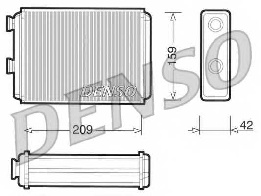 Радиатор отопления салона DENSO DRR09070 - изображение