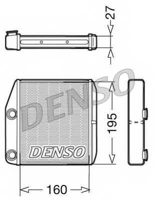 Радиатор отопления салона DENSO DRR09075 - изображение