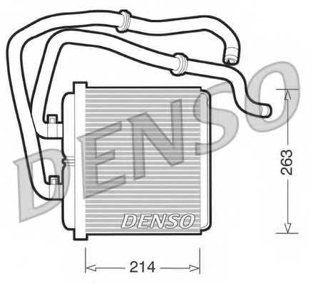 Радиатор отопления салона DENSO DRR12003 - изображение