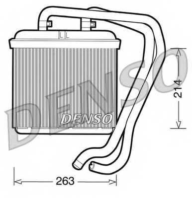 Радиатор отопления салона DENSO DRR12004 - изображение
