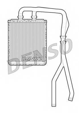 Радиатор отопления салона DENSO DRR12010 - изображение