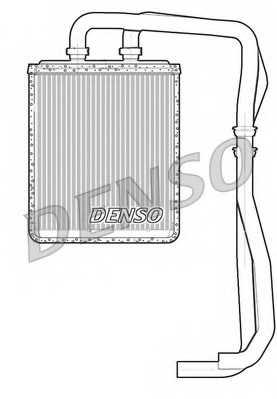 Радиатор отопления салона DENSO DRR12011 - изображение