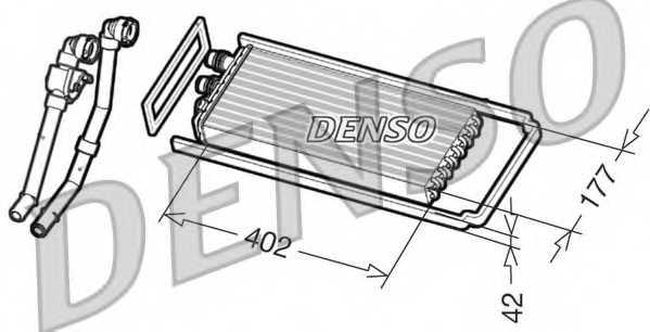Радиатор отопления салона DENSO DRR12101 - изображение