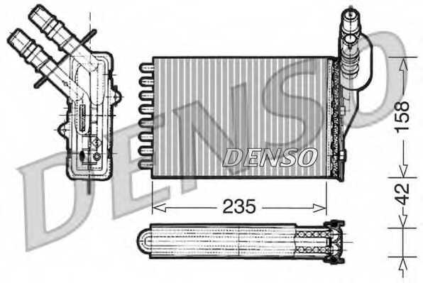 Радиатор отопления салона DENSO DRR23001 - изображение