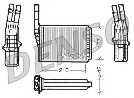 Радиатор отопления салона DENSO DRR23013 - изображение