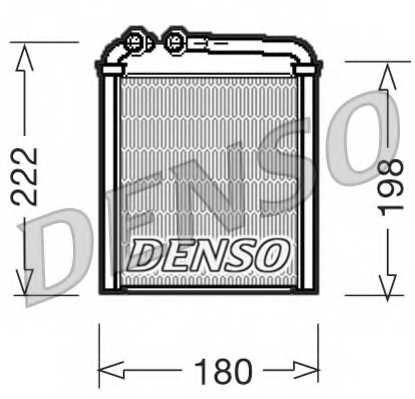 Радиатор отопления салона DENSO DRR32005 - изображение