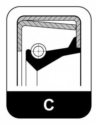 Сальник ступицы колеса ELRING 208.220 - изображение