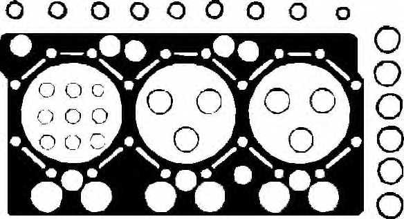 Прокладка головки цилиндра ELRING 750.530 - изображение