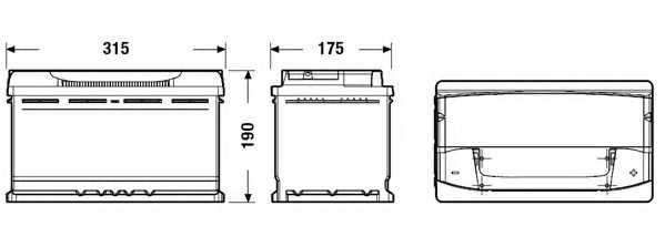 Аккумулятор EXIDE EA900 - изображение 1