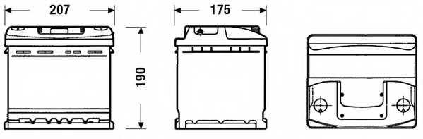Аккумулятор EXIDE 079RE / EC440 - изображение 1