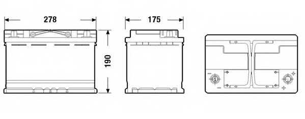 Аккумулятор EXIDE 067AGM / EK700 - изображение 1