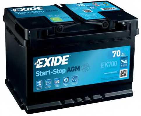 Аккумулятор EXIDE 067AGM / EK700 - изображение