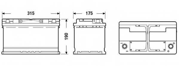 Аккумулятор EXIDE 115AGM / EK800 - изображение 1