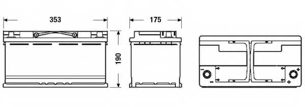 Аккумулятор EXIDE 017AGM / EK950 - изображение 1