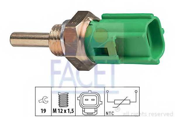 Датчик температуры охлаждающей жидкости FACET EPS 1.830.177 / 7.3177 - изображение
