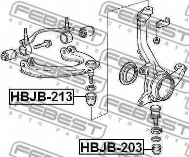 Ремкомплект, несущих / направляющих шарниров FEBEST HBJB-213 - изображение 1
