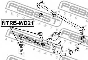 Ремкомплект, наконечник поперечной рулевой тяги FEBEST NTRB-WD21 - изображение 1