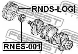 Ременный шкив коленвала FEBEST RNDS-LOG - изображение 1