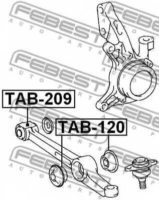 Подвеска рычага независимой подвески колеса FEBEST TAB-120 - изображение 1