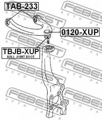 Ремкомплект, несущих / направляющих шарниров FEBEST TBJB-XUP - изображение 1