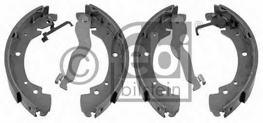 Комплект тормозных колодок задний для VW TRANSPORTER(70XA, 70XB, 70XC, 70XD, 7DB, 7DK, 7DW) <b>FEBI BILSTEIN 02910</b> - изображение