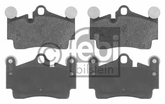 Колодки тормозные дисковые задний для AUDI Q7(4L) / PORSCHE CAYENNE(955,9PA) / VW TOUAREG(7L6,7L7,7LA) <b>FEBI BILSTEIN 16619</b> - изображение