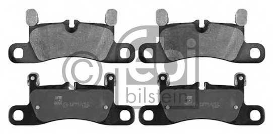 Колодки тормозные дисковые задний для PORSCHE CAYENNE(92A), PANAMERA(970) / VW TOUAREG(7P5) <b>FEBI BILSTEIN 16809</b> - изображение