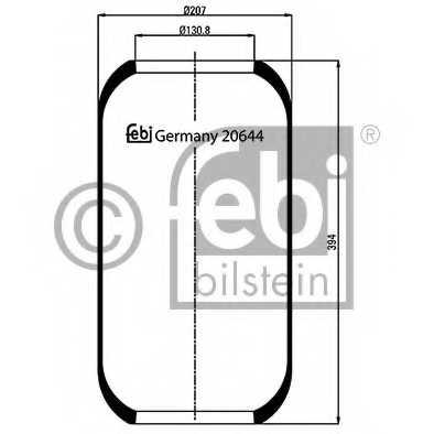 Кожух пневматической рессоры FEBI BILSTEIN 20644 - изображение