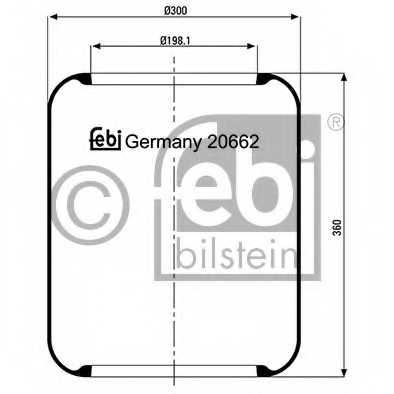 Кожух пневматической рессоры FEBI BILSTEIN 20662 - изображение
