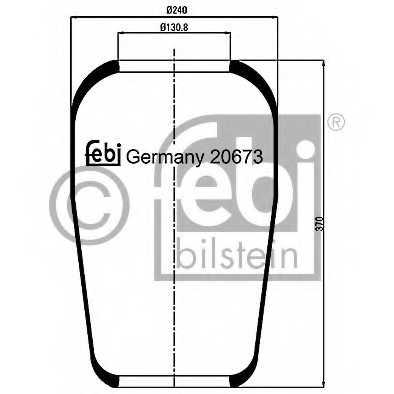Кожух пневматической рессоры FEBI BILSTEIN 20673 - изображение