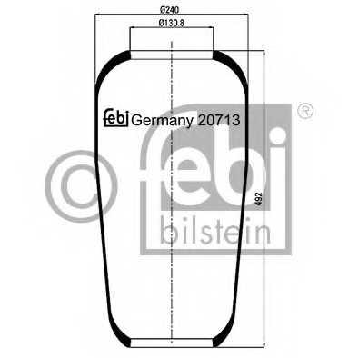 Кожух пневматической рессоры FEBI BILSTEIN 20713 - изображение