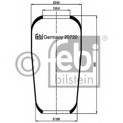 Кожух пневматической рессоры FEBI BILSTEIN 20720 - изображение