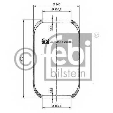 Кожух пневматической рессоры FEBI BILSTEIN 20888 - изображение