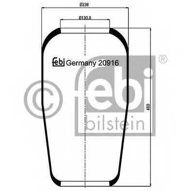 Кожух пневматической рессоры FEBI BILSTEIN 20916 - изображение
